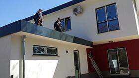Neubau Flachdachabdichtung Wohnhaus und Garage durch ABD Bedachungen (Motiv 3) - Ihr Partner rund ums Dach in Berlin und Brandenburg
